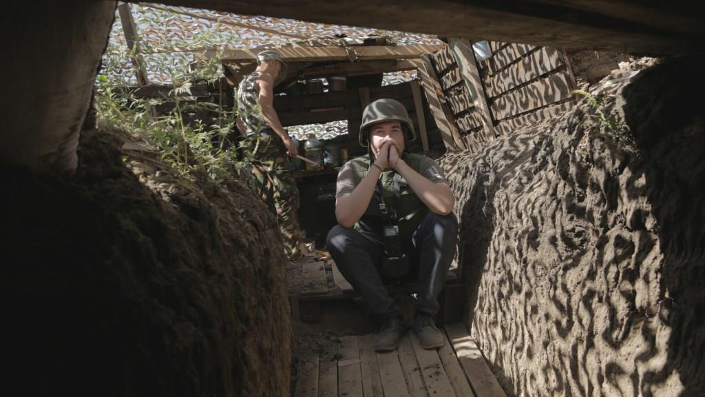 На фото: Костянтин Кляцкін на зйомках фільму «Крим. Як це було». Фото надане прес-службою проекту